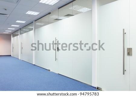 Corridor in the office building - stock photo