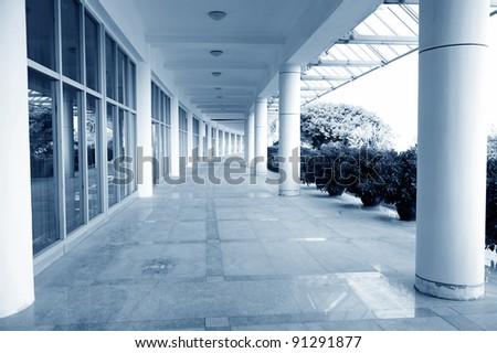 corridor of the office building. - stock photo