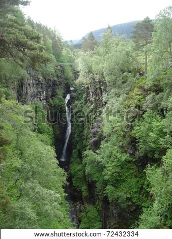 Corrieshalloch Gorge - stock photo