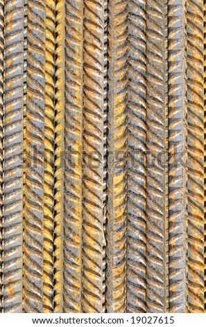 corroded iron bars - stock photo