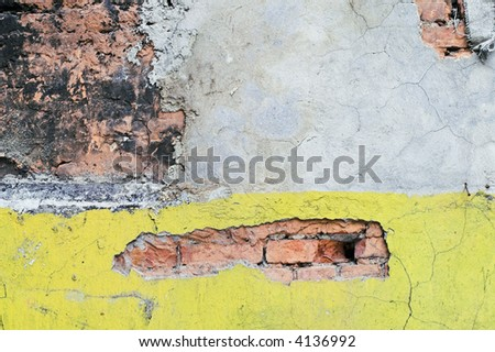 Corroded Wall in a back alley.