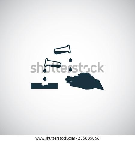 corrosive icon on white background  - stock photo