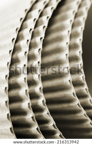 corrugated card board - stock photo