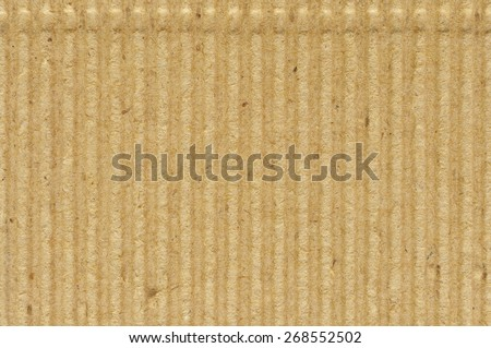 Corrugated cardboard goffer paper texture rough old recycled goffered textured blank empty grunge copy space background aged grungy macro closeup taupe, brown yellow beige horizontal vintage pattern - stock photo
