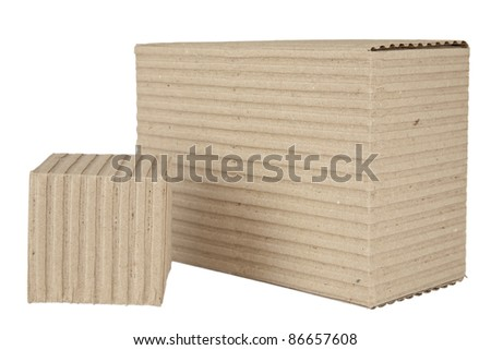 corrugated cardboard packages