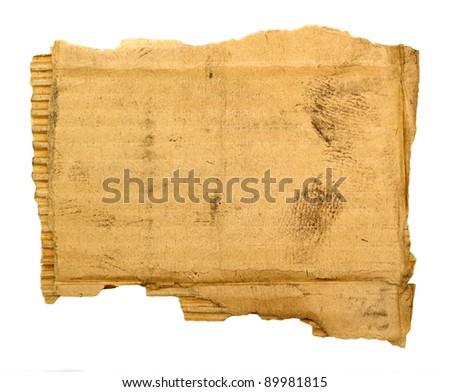 corrugated cardboard sheet background - stock photo