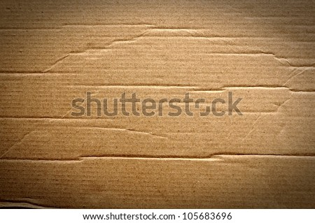 Corrugated cardboard texture - stock photo