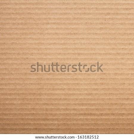 Corrugated Cardboard Texture, Pattern - stock photo