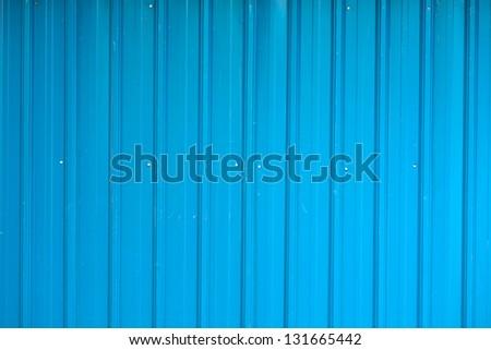 Corrugated fence background - stock photo