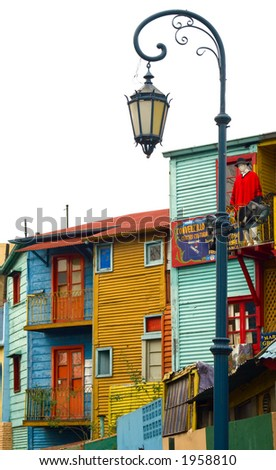 Corrugated homes in La Boca - Buenos Aires - stock photo