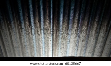corrugated metal roo texture - stock photo