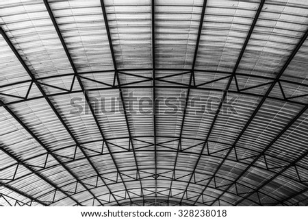 corrugated metal roof for storage or warehouse insulation under roof protection surface heat