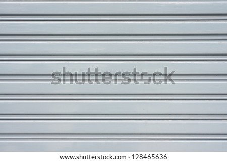 Corrugated metal sheet - stock photo