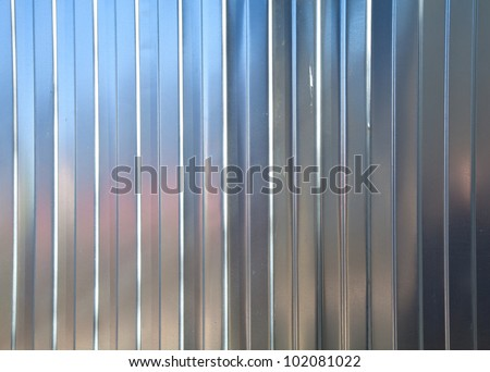 Corrugated metal surface texture - stock photo