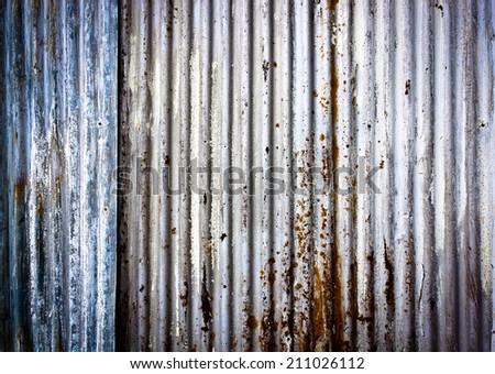 corrugated metal texture - stock photo