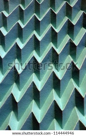 Corrugated paper background. - stock photo