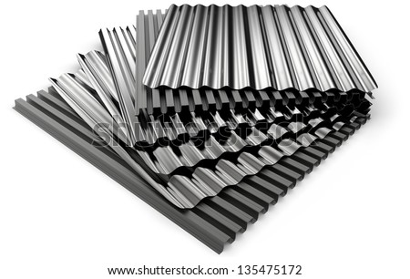 Corrugated sheets - stock photo