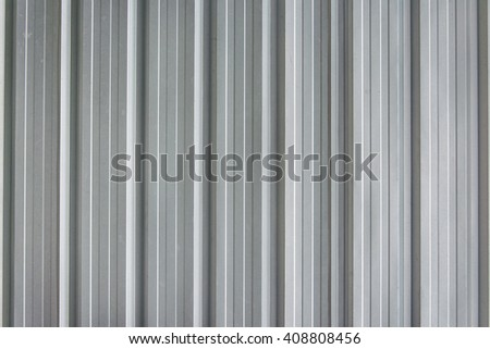 Corrugated zinc textured background - stock photo