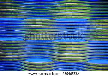 corrugation metal pipes abstract blue background - stock photo