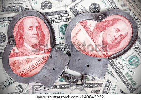Corruption in government is punishable by law background - stock photo