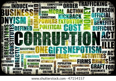 Corruption in the Government in a Corrupt System - stock photo