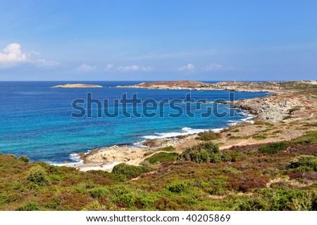 Corsican landscape - stock photo
