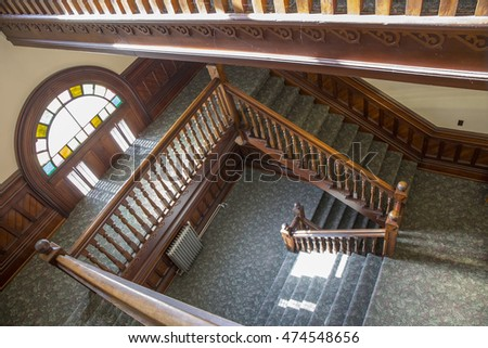 Corvallis, OR, USA - August 25, 2016: Inside the historic Corvallis Courthouse, home of the Benton County Circuit Court