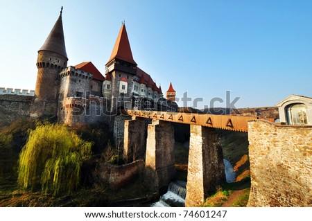 Corvinesti Castle, Hunedoara, Romania - stock photo