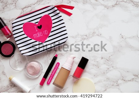 Cosmetic bag - stock photo