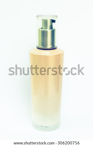 Cosmetic bottle in vintage style