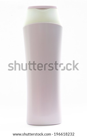 Cosmetic bottle isolated object on white background - stock photo