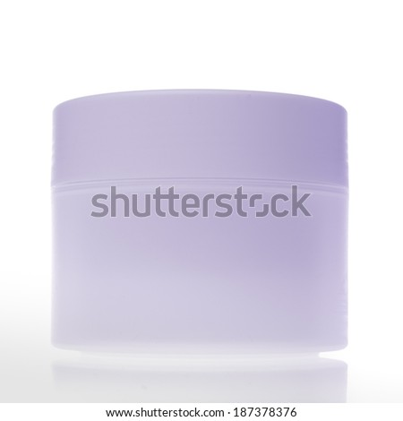 cosmetic bottle isolated on white background - stock photo