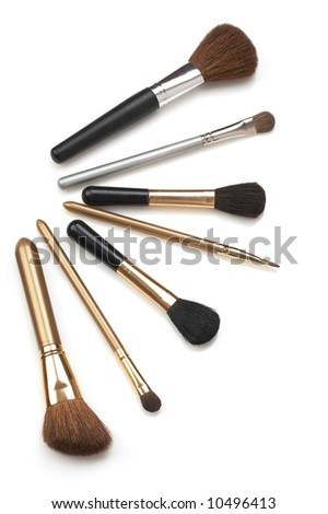 cosmetic brushes - stock photo