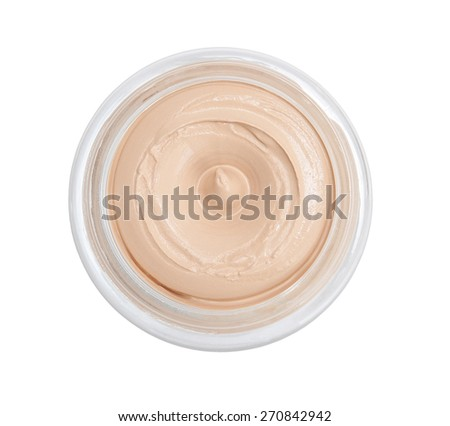 Cosmetic cream isolated on white - stock photo