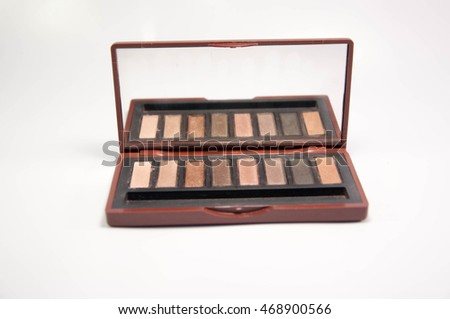 Cosmetic. eye shadows. brown tone eye shadows.
