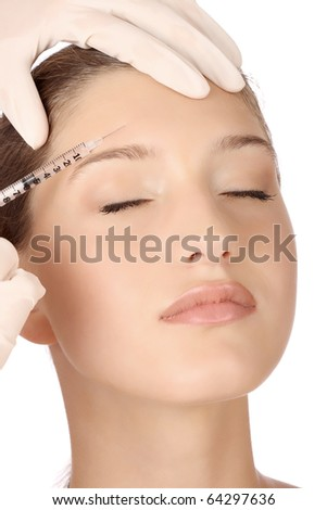 cosmetic injection - stock photo