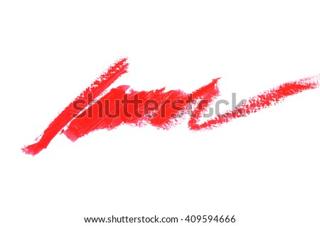 Cosmetic pencil smear isolated on white - stock photo