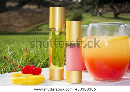 cosmetic product in a bottle