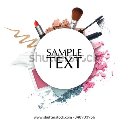 cosmetic promotion circle frame - stock photo
