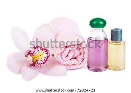 cosmetic set isolated