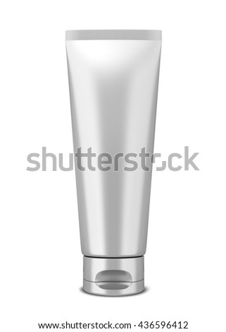 Cosmetic tube. 3d illustration isolated on white background