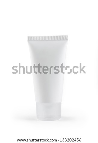 Cosmetic tube isolated on white background - stock photo