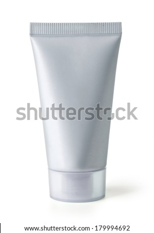 Cosmetic tube isolated on white background with clipping path