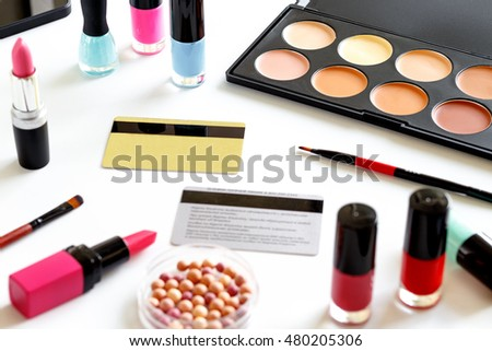 cosmetics discount or gift cards white backround