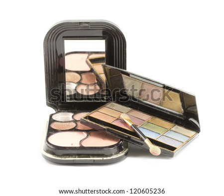 cosmetics eye shadow different colors