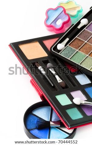 cosmetics, Eye-shadow,rouge,powder - stock photo