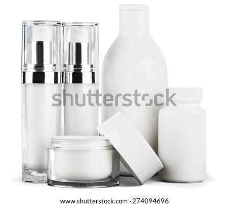 Cosmetics, Moisturizer, Bottle. - stock photo