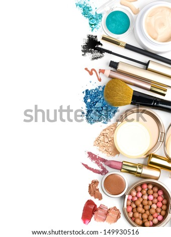 cosmetics, on a white background isolated - stock photo