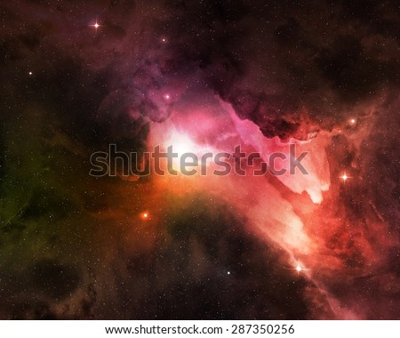 cosmic dust shining in starry night sky - stock photo