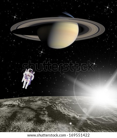 Cosmic landscape. Elements of this image furnished by NASA